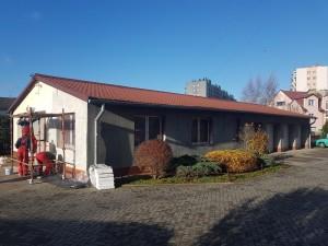 remont elewacji budynku administracyjno-garażowego