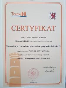 certyfikat Iwona Korytkowska